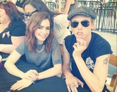 Jamie Campbell Bower and Lily Colins