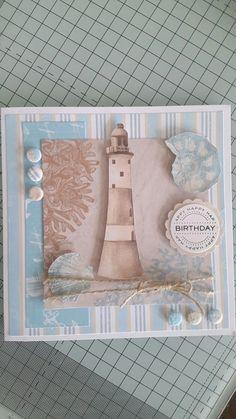 Для, скрапбукинг открытки с маяком