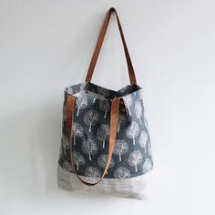 Original Handmade Canvas and Leather Casual Tote Shoulder Bag Carry all Bag 14041 - LISABAG - 2