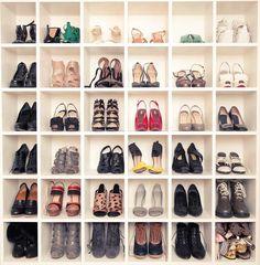 Teen_vogue_fashion_news_director_shoe_wall_bookshelf_cubby