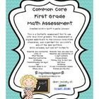 This is a fantastic assessment tool to use with your first graders .This assessment is aligned specifically to the Common Core State Standards, and...