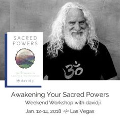Join me in Las Vegas, NV on January 12-14th, 2018 to dive deep into my new book, Sacred Powers that come out Decmber 12th, 2017. Register today!