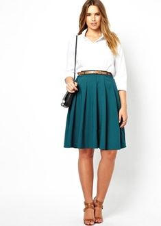 Faldas tallas extra, plus size para mujeres.