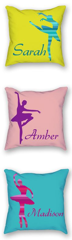 If you have a little ballerina in your home this ballet pillow case will make for a perfect gift. This also makes for a great nursery pillow.