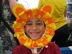 Lion paper plate mask