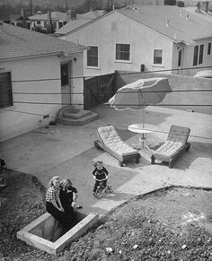 1951.. backyard entrance to fallout shelter