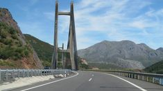 A drive across in northern Spain, from León to Oviedo, through the Cantabrian Mountains. This is one of the most scenic motorways in Europe. Golden Gate Bridge, Places To See, Scenery, Spain, Around The Worlds, Journey, Europe, Mountains, Travel