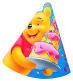 Urodzinowe czapeczki z Kubusiem Puchatkiem