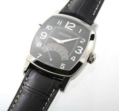 Large stainless steel Daniel Jean Richard, on leather strap with stainless steel deployant buckle. The black Arabic numbers, tapisserie dial is in good condition.   http://www.liveauctioneers.com/item/25627234_large-mens-stainless-steel-jean-richard-retograde