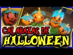 Calabacitas Halloween PAPEL MACHÉ - YouTube