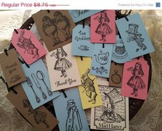 Cute Alice in Wonderland Tags