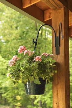 Keep Hanging Baskets Looking Fresh... if they are constantly dry, line the inside of the pot with newspaper and the water will saturate the soil instead of running out immediately.