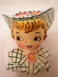 Lefton Dainty Miss vintage head vase numbered 155 by brixiana etsy