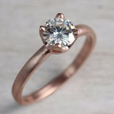6mm Crown Solitaire Engagement Ring - Aide-mémoire Jewelry