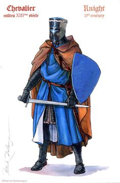Medieval Knight, Medieval Armor, Medieval Fantasy, Fantasy Faction, Norman Knight, Army History, Medieval Drawings, Character Art, Character Design