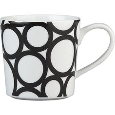 Graphic Circles Mug in Coffee Mugs, Teacups | Crate and Barrel