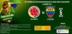 Partido #Colombia vs #Ecuador  Rumbo a #Brasil2014
