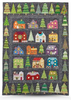 First Snow by Tina Curran.  1st place holiday quilt. 2014 Quilt Show Winners - Glendale Quilt Guild