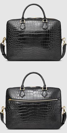 Crocodile Briefcase, Alligator Briefcase for Men, Men's Crocodile Briefcase, Alligator Briefcase