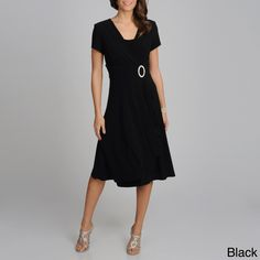 Introduce a hint of classic style to your wardrobe with this short-sleeve ruffle dress from R