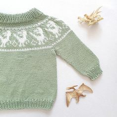 Ravelry: Retro Raptor pattern by Tonje Haugli Dinosaur Sweater, I Love Ugly, Ugly Sweater, Sweaters, Main Colors, Knits, Ravelry, Pullover, Stitch