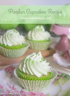 Perfect for all kinds of celebrations, here is a Pandan Cupcakes Recipe that's moist, easy to make and surely delicious.