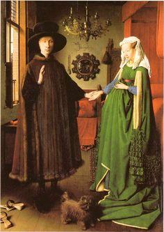 Retrato de Giovanni Arnolfini y su esposa - J. Van Eick