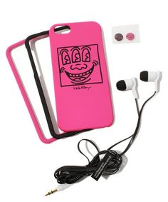 GRAPHT(グラフト)のKeith Haring Collection Bezel Case for iPhone 5 with Earphones(モバイルケース/カバー)|ピンク