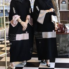 Abaya Fashion, Muslim Fashion, Abaya Designs Dubai, Stylish Hijab, Black Abaya, Mode Abaya, Iranian Women Fashion, Hijab Fashionista, Hijab Style