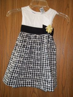 Blueberi Boulevard Girls Size 4T Black White Gingham Dress New With Tags in Clothing, Shoes & Accessories, Baby & Toddler Clothing, Girls' Clothing (Newborn-5T) | eBay