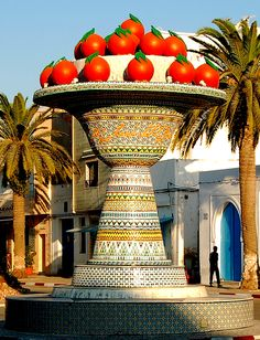 Fruit Bowl monument in Nabeul, Tunisia