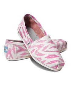 Take a look at this Pink Ikat Vegan Classics - Women by TOMS on #zulily today! $34.99, regular 54.00