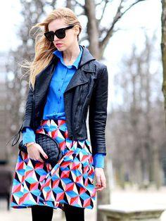 春服へアップデート♪ ブロガーChiaraが魅せる、私服2WEEKコーデ  柄は、ヴィヴィッドカラーで大胆に