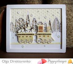 Holidays are approaching really fast but there are lots of preparations still to be done... so that is what my today's card is about :) The VIDEO TUTORIAL is at the end of this post: 1663 Choo Choo Train 1554 Car Toppers Boddington Tree Border Pinpoint Rectangle Layers InLinkz.com