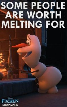 Olaf may not have melted completely during this scene, but *I* sure did! ♥ #Disney #Frozen