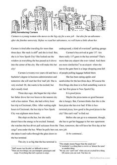 Adult reading series - Introducing Carmen