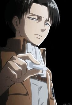 Lol why does he look so uncomfortable, worried about chalk dust getting on his fingers? | Levi drawing with chalk | SnK