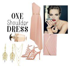 """#Party Style: One Shoulder Dress"" by turqoiseninja ❤ liked on Polyvore featuring STELLA McCARTNEY, Schutz, Sasha, Cathy Waterman and Prada"