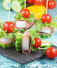 Koreczki | AniaGotuje.pl Sushi, Appetizers, Cheddar, Ethnic Recipes, Party, Yummy Snacks, Fiesta Party Foods, Home Kitchens, Salad