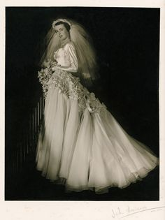 Vintage Wedding Dresses Wedding ensembles, designed and made by Beryl Jents for Betty McInerney (nee Storman), 1952 - Wedding Attire, Wedding Bride, Wedding Gowns, Wedding Tips, Wedding Shot, Wedding Beach, Wedding Outfits, Luxury Wedding, Vintage Wedding Photos