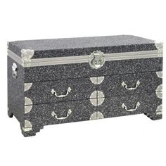 Bling Black Sparkle 4 Drawer Trunk – Allissias Attic & Vintage French Style