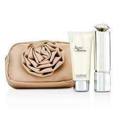 Aura Coffret: Eau De Parfum Refillable Spray 50ml-1.7oz + Body Lotion 100ml-3.5oz + Flower Pouch - 2pcs