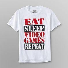 """Eat. Sleep. Video Games. Repeat"" boy's t-shirt"
