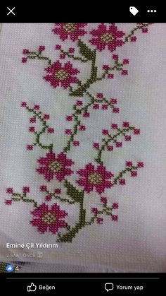Cross Stitch Borders, Cross Stitch Flowers, Cross Stitch Designs, Cross Stitch Patterns, Hand Embroidery Design Patterns, Bargello, Loom Beading, Cross Stitch Embroidery, Needlework