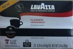 LavAzza, K-Cup, Single Serve, Classico, Medium Roast, 10 Count, 3.4oz Box (Pack of 3) (Classico)