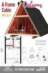 Cute Small House Floor Plans A Frame Homes Cabins Cottages
