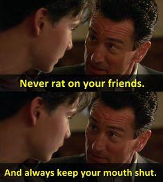 Robert De Niro in Goodfellas, Goodfellas Quotes, Goodfellas Movie, Godfather Quotes, Gangster Quotes, Gangster Movies, Cinema Movies, Movie Tv, Best Movie Lines, Top Film