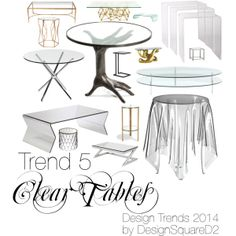 """""""Trend 5 Clear Tables"""" by design2square on Polyvore Interior Styling, Interior Design, Article Design, 2014 Trends, Home Staging, Design Trends, Tiles, Polyvore, Inspiration"""