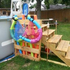 Intex frame pool in erde einlassen yard pool pinterest rahmen wasser und g rten - Pool im boden einlassen ...