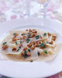 Pecorino Ravioli with Walnuts and Marjoram Recipe
